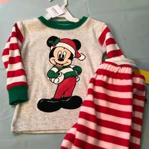 Disney 12m Mickey Christmas PJs!